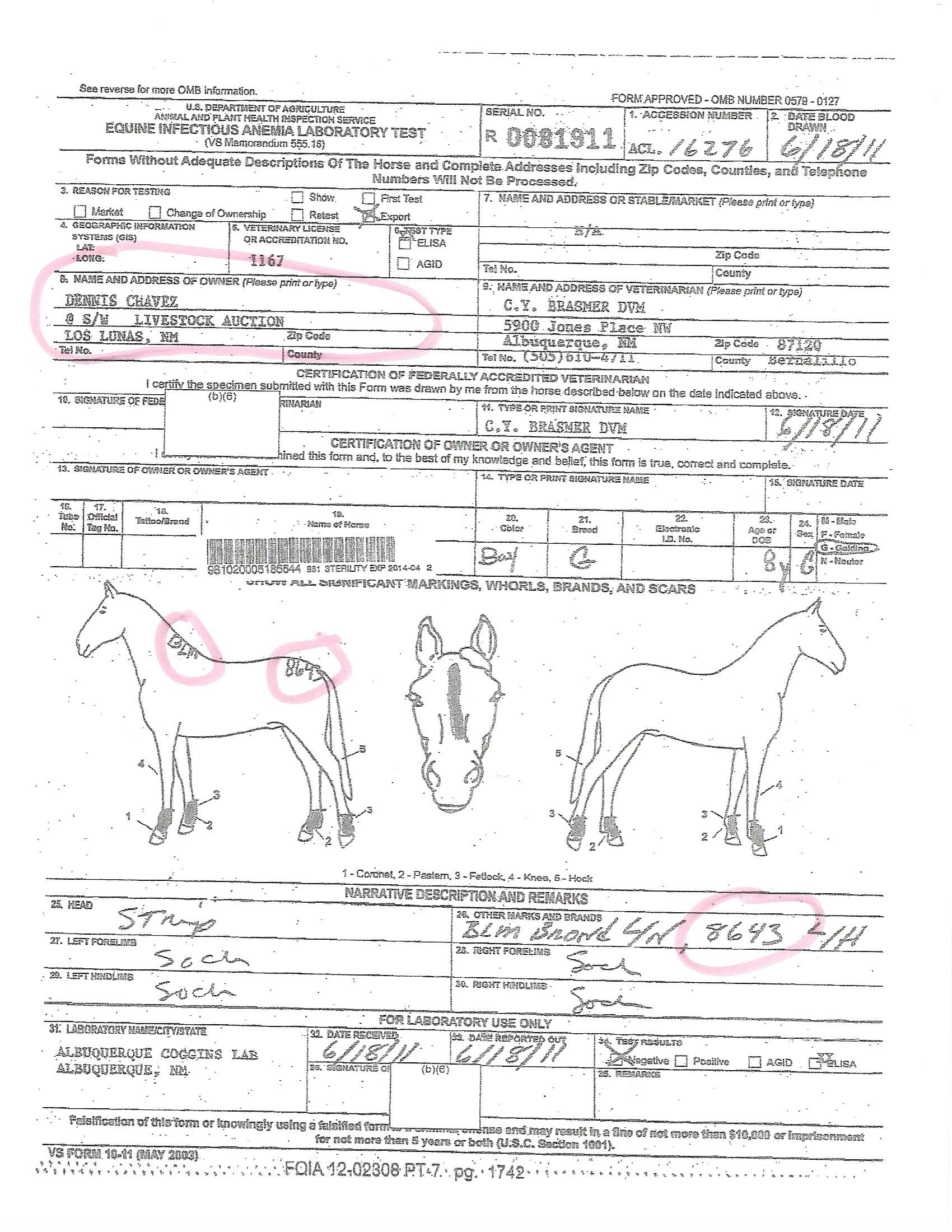 The truth 2 equine welfare alliance and wild horse freedom sent humberto lucero of santa teresa nm a fax notifying him that a shipment of 76 horses to mexico on the usda international health certificates 1betcityfo Choice Image